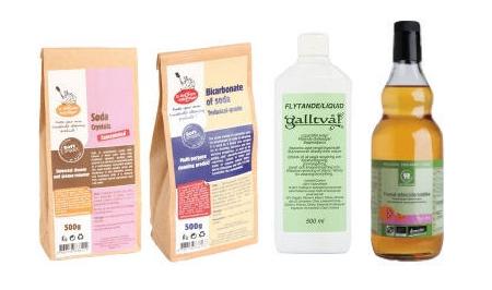 Naturliga fläckborttagningsmedel