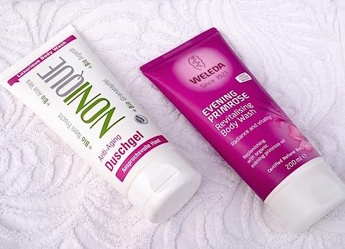 Duschkräm för mogen hud anti-aging
