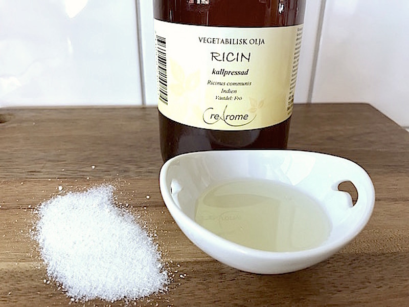 Ansiktsmask med ricinolja och C-vitamin