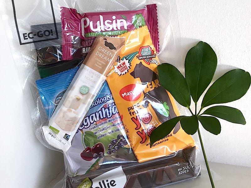 EC-GO bagen som levereras med ekologiska godsaker