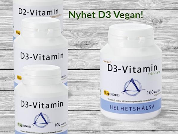Tävla om D-vitamin från Helhetshälsa