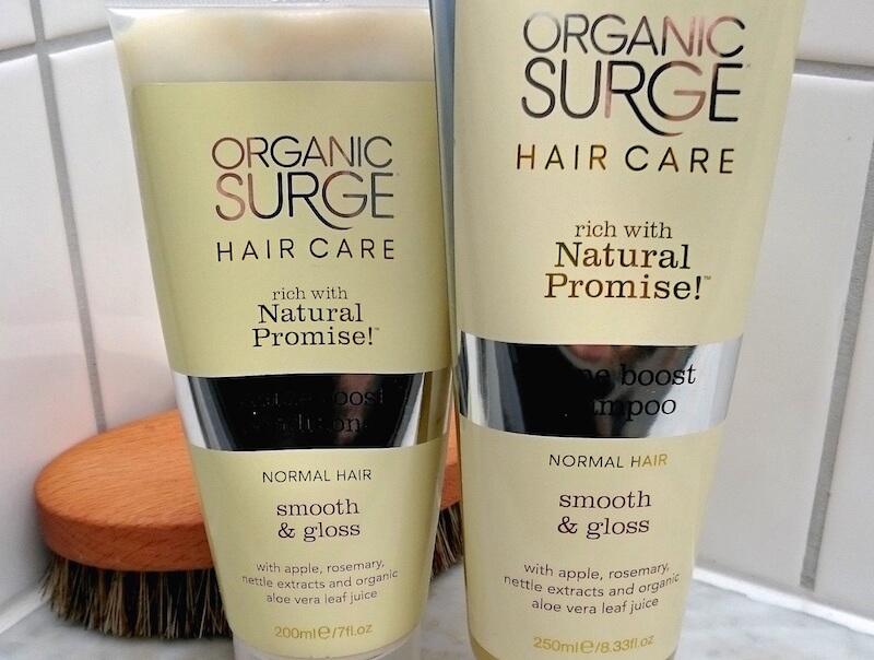 Glansgivande schampo och balsam från Organic surge