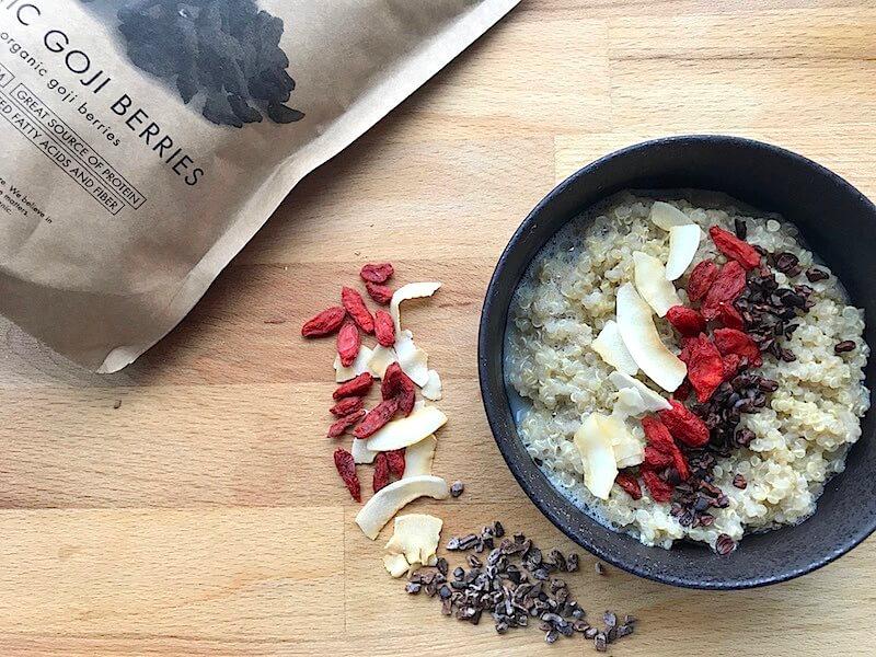 God och näringsrik quinoagröt