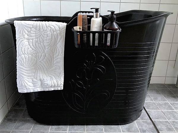 En praktisk badbalja för vuxna