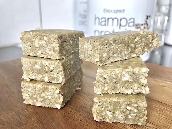 Hampaproteinbars recept