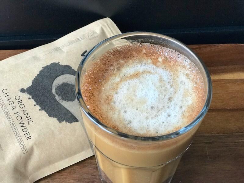 Kryddig Chaga latte