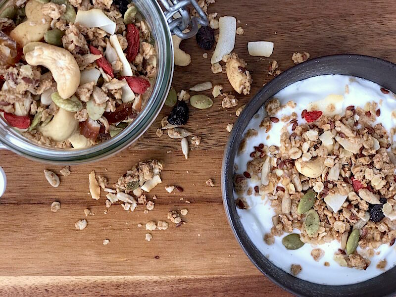 Recept för hälsosam granola