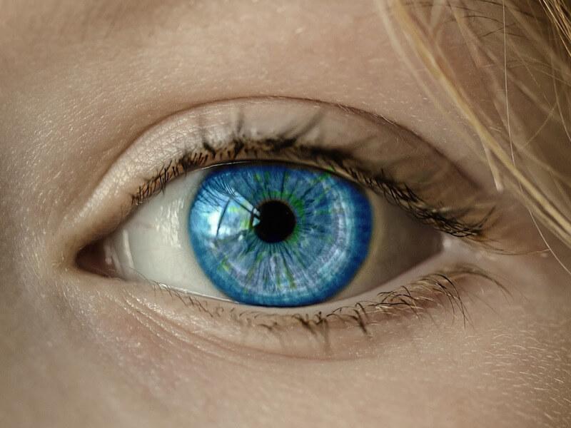 Ett öga för att utföra irisdiagnostik