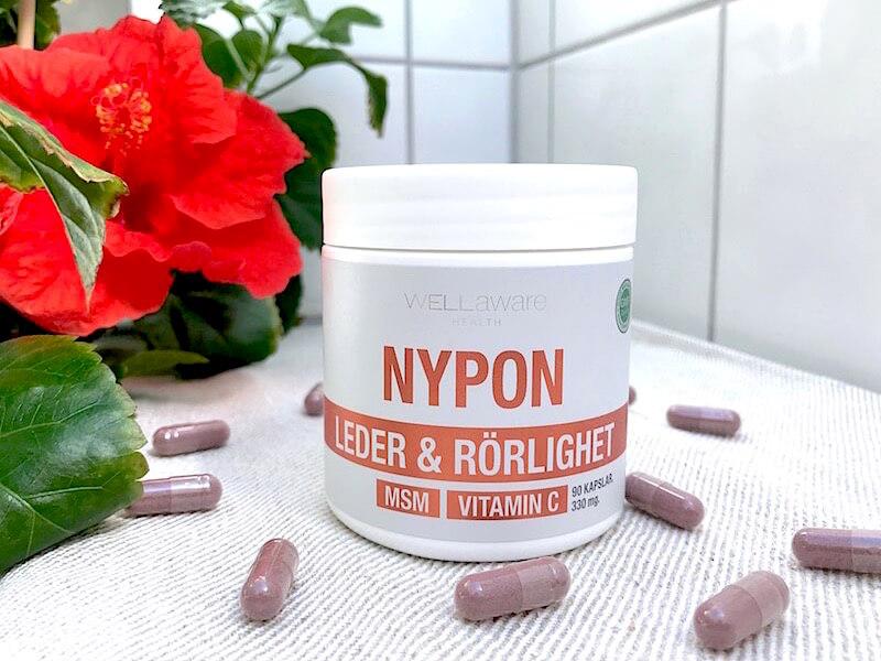 Nypon + MSM + C-vitamin för ledhälsan
