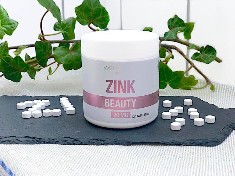Kosttillskott av zink ett viktigt mineral för huden