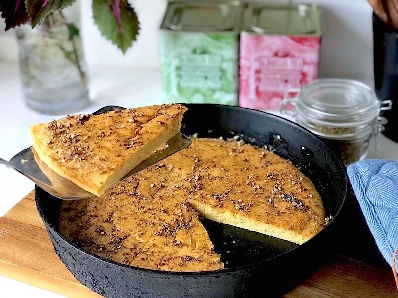 Glutenfritt kikärtsbröd i panna (socca)