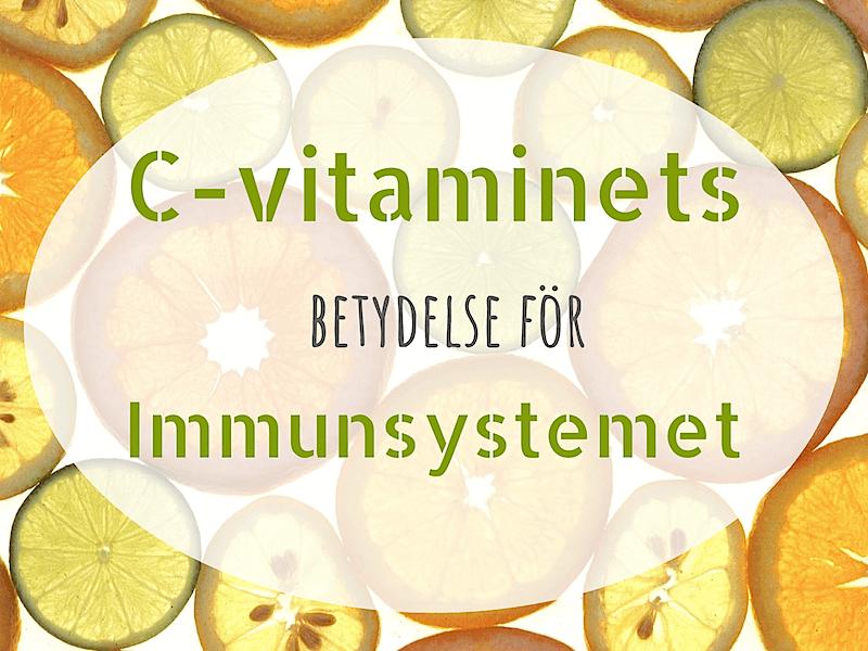 C-vitaminets betydelse för immunsystemet