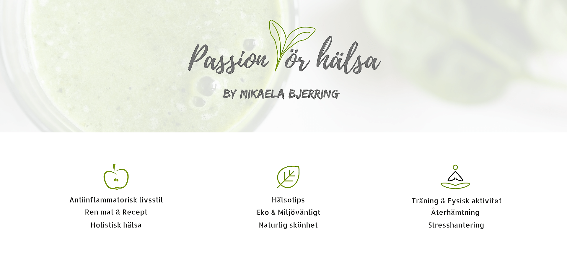 Passion för hälsa Blogg