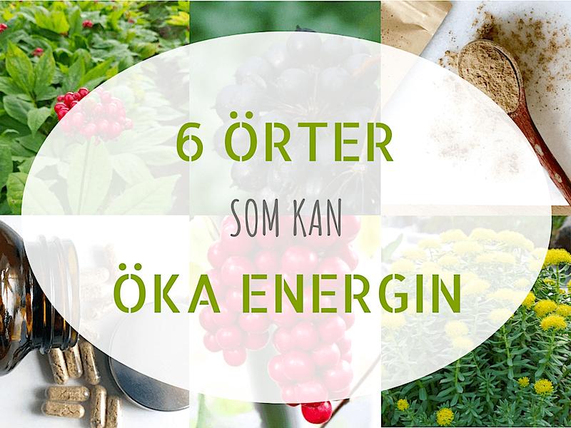 6 örter som kan öka energin
