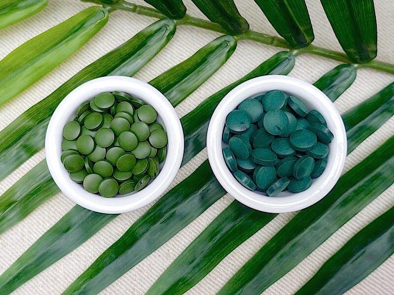 Skillnaden mellan spirulina & chlorella