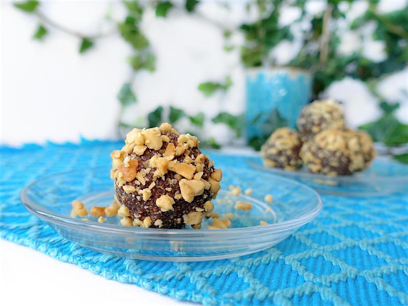 Jordnötsbollar med crunch (Vegan)